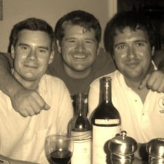 Adam Bartoy, Lou Irwin, Krios Chislett with Sterling and Mouton