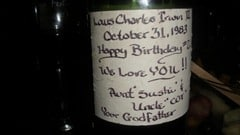 The birthday bottle.