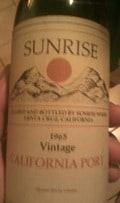 Sunrise 1965 California Port
