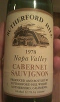 Rutherford Hill 1978 Napa Cabernet