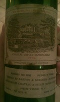 Chateau Lafite Rothschild 1970 Bordeaux