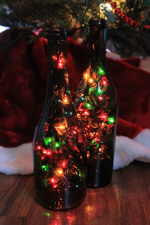 Bottle Christmas Decoration Awesome Diy Wine Bottle Christmas Lights  Blog Your Wine 2018