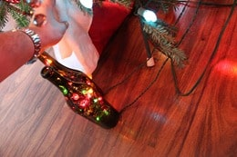 Wine Bottle Christmas Light - Hiding the Wire