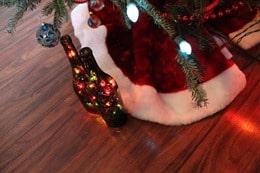 Wine Bottle Christmas Light - Wire Hidden