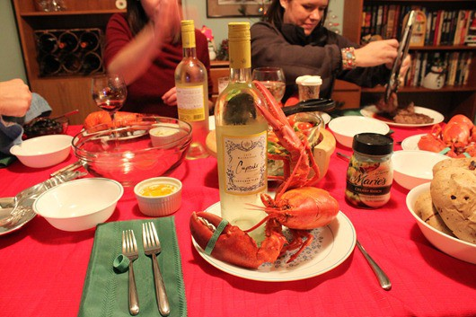 Christmas Eve - Lobsters paired with Cupcake New Zealand Sauvignon Blanc