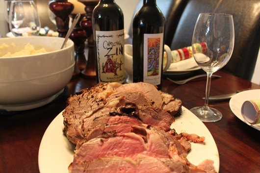 Cardinal Zin 2008 and Darcie Kent Merlot Paired with Prime Rib