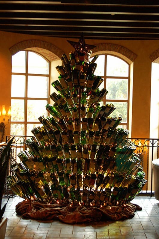My wine bottle Christmas tree took me forever to put up!