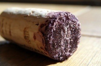Tartrates on the end of your cork!
