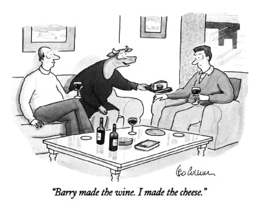 Barry made the wine!