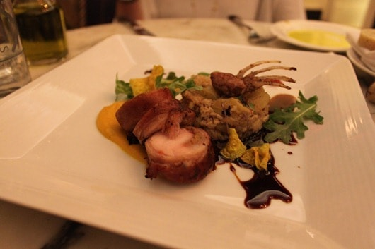 Heritage Valley rabbit loin, caramelized fennel, yams, arugula, and hay smoked date jus - Talisker on Main