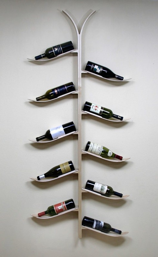 Ski Wine Rack from Etsy