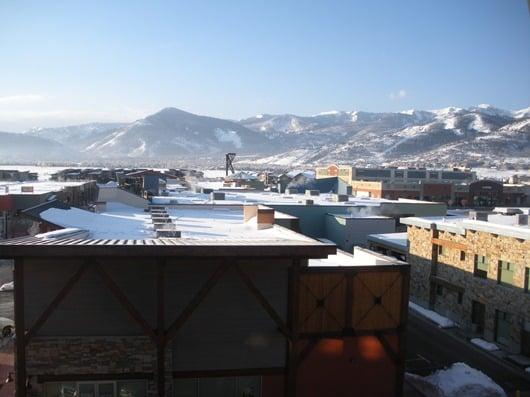 View from the Hot Tub at New Park Resort, Utah