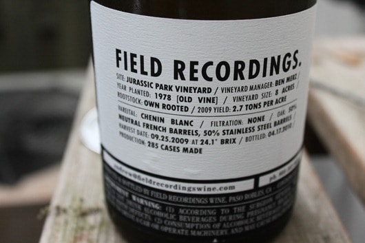 Field Recordings Unfiltered Chenin Blanc (2)