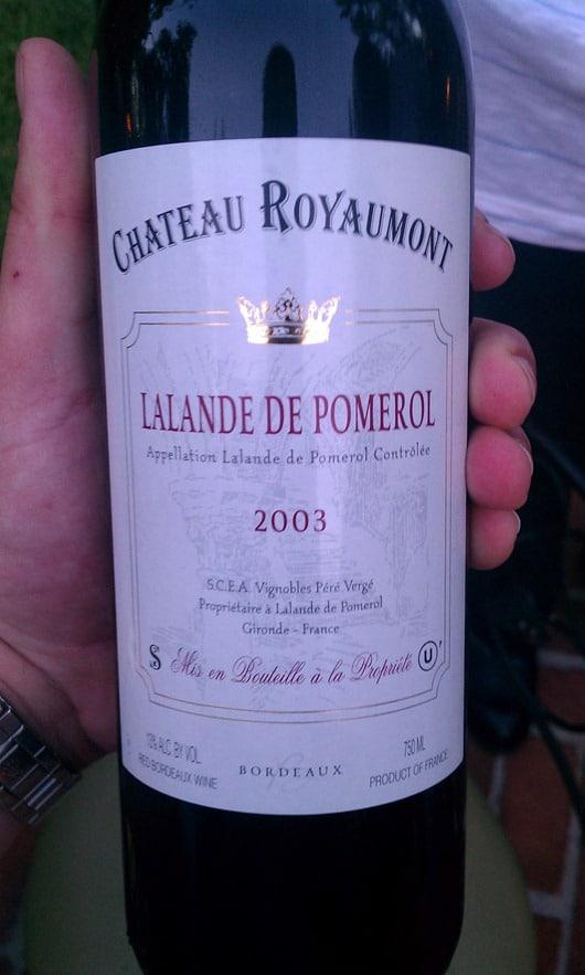 Chateau Royaumont Lalande De Pomerol 2003
