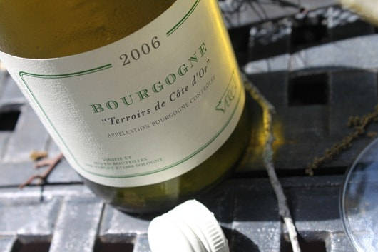 "Verget Bourgogne ""Terriors de Cote d'Or"" Chardonnay Wine Bottle Shot"