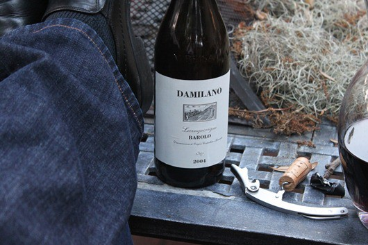 After Work Bottle of Damilano Lecinquevigne Barolo