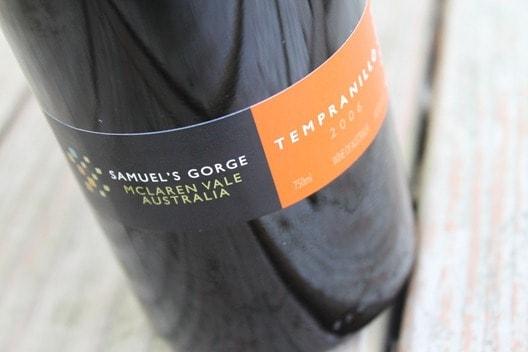 Samuel's Gorge Tempranillo from McLaren Vale, Australia..