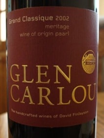 Glen Carlou from Paarl, South Africa.