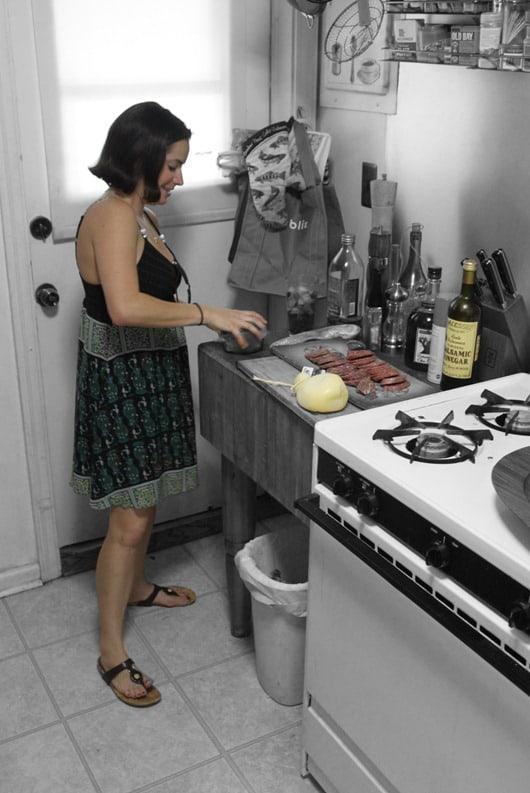 Jacqueline Bartoy in Kitchen