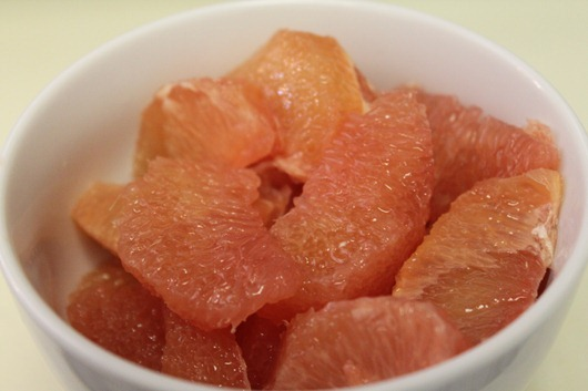 Pink Grapefruit in zi Bowl.