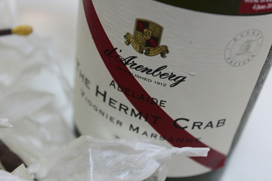 d'Arenberg The Hermit Crab Viognier Marsanne Adelaide 2009.