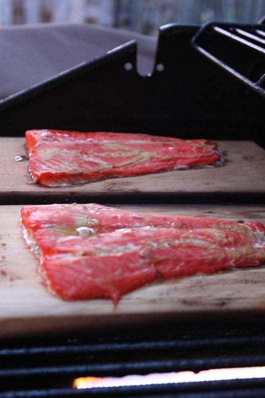 Cedar Plank Sockeye Salmon on the Grill
