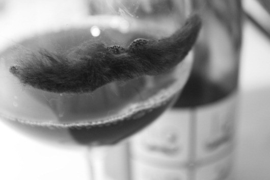 Hold Up 2007 by Rhone Gang - The wine glass felt left out, so I gave it it's own 'tache.