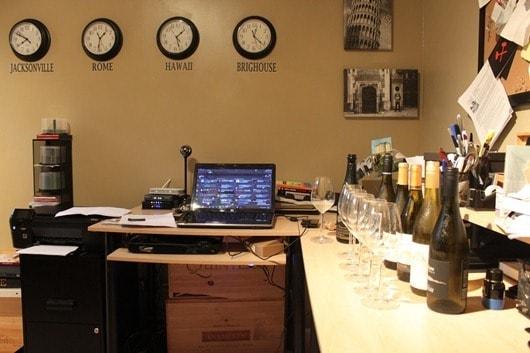 Wine tasting mission control.
