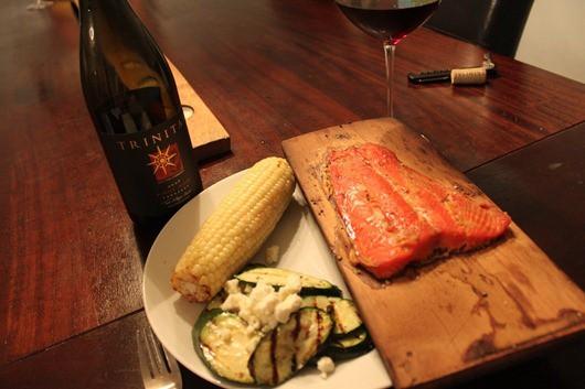 Trinitas Carneros Pinot Noir 2009 Paired with Cedar Plank Sockeye Salmon