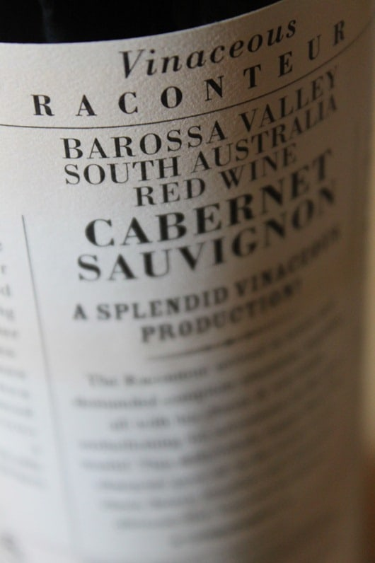 Vinaceous Raconteur Cabernet South Australia