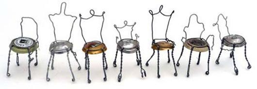 Amazing Champagne Cork Chairs.