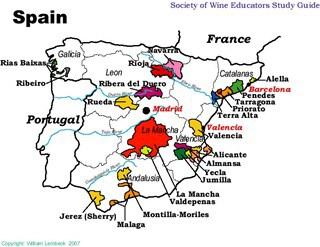 Spanish Wine Map