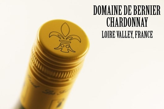 Domaine de Bernier Chardonnay, Loire Valley, France.