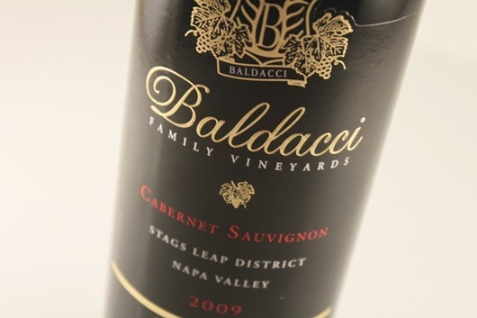 Baldacci Cabernet, Stags Leap District, Napa Valley.