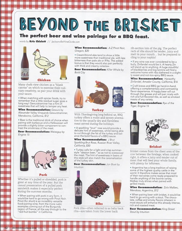 Beyond the brisket the perfect wine and beer pairings for for Articles cuisine